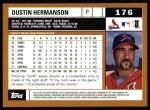 2002 Topps #176  Dustin Hermanson  Back Thumbnail