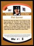 2002 Topps #287  Phil Garner  Back Thumbnail