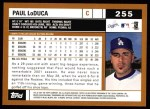 2002 Topps #255  Paul LoDuca  Back Thumbnail