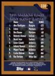 2002 Topps #338   -  A.Rod / Ichiro / Boone League Leaders Back Thumbnail