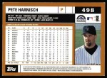 2002 Topps #498  Pete Harnisch  Back Thumbnail