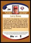 2002 Topps #294  Larry Bowa  Back Thumbnail