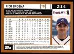 2002 Topps #214  Rico Brogna  Back Thumbnail