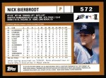 2002 Topps #572  Nick Bierbrodt  Back Thumbnail