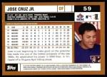 2002 Topps #59  Jose Cruz Jr.  Back Thumbnail