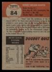 1953 Topps #84  Bob Hooper  Back Thumbnail