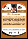 2002 Topps #298  Mike Hargrove  Back Thumbnail