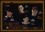 2002 Topps #343   -  Walker / Helton / Alou / Berk League Leaders Front Thumbnail