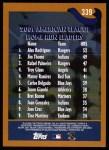 2002 Topps #339   -  A.Rod / Thome / Palmeiro League Leaders Back Thumbnail