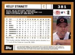 2002 Topps #381  Kelly Stinnett  Back Thumbnail