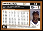 2002 Topps #56  Mark McLemore  Back Thumbnail