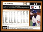 2002 Topps #28  Eric Young  Back Thumbnail