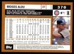 2002 Topps #370  Moises Alou  Back Thumbnail