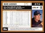 2002 Topps #274  Mark Gardner  Back Thumbnail