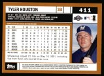 2002 Topps #411  Tyler Houston  Back Thumbnail