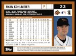 2002 Topps #23  Ryan Kohlmeier  Back Thumbnail