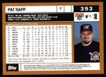 2002 Topps #393  Pat Rapp  Back Thumbnail