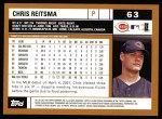 2002 Topps #63  Chris Reitsma  Back Thumbnail