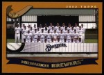 2002 Topps #656   Milwaukee Brewers Front Thumbnail