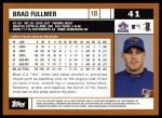 2002 Topps #41  Brad Fullmer  Back Thumbnail