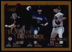 2002 Topps #347   -  Randy Johnson / Curt Schilling / Paul Burkett League Leaders Front Thumbnail
