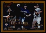 2002 Topps #347   -  Randy Johnson / Curt Schilling / Paul Burkett League Leaders Front Thumbnail