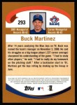 2002 Topps #293  Buck Martinez  Back Thumbnail