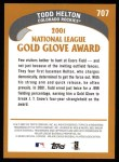 2002 Topps #707   -  Todd Helton Golden Glove Back Thumbnail