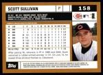 2002 Topps #158  Scott Sullivan  Back Thumbnail