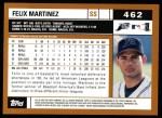 2002 Topps #462  Felix Martinez  Back Thumbnail