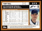 2002 Topps #373  Toby Hall  Back Thumbnail