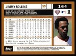 2002 Topps #164  Jimmy Rollins  Back Thumbnail
