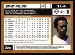 2002 Topps #164  Jimmy Rollins  Back Thumbnail