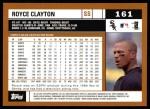 2002 Topps #161  Royce Clayton  Back Thumbnail