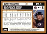 2002 Topps #219  Benny Agbayani  Back Thumbnail