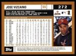 2002 Topps #272  Jose Vizcaino  Back Thumbnail