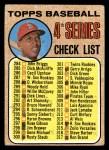 1968 Topps #278 RT  -  Orlando Cepeda Checklist 4 Front Thumbnail