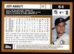 2002 Topps #64  Jeff Abbott  Back Thumbnail
