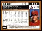 2002 Topps #102  Bud Smith  Back Thumbnail
