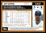 2002 Topps #162  Jeff Suppan  Back Thumbnail