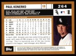 2002 Topps #264  Paul Konerko  Back Thumbnail