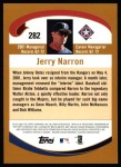 2002 Topps #282  Jerry Narron  Back Thumbnail