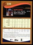 2002 Topps #330  Kenny Baugh  Back Thumbnail