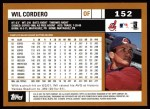 2002 Topps #152  Wil Cordero  Back Thumbnail