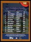 2002 Topps #348   -  Randy Johnson / Curt Schilling / Chan Ho Park League Leaders Back Thumbnail
