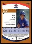 2002 Topps #672  Kevin Cash   Back Thumbnail
