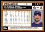 2002 Topps #612  Darrin Fleher  Back Thumbnail