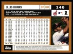 2002 Topps #140  Ellis Burks  Back Thumbnail