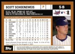 2002 Topps #58  Scott Schoeneweis  Back Thumbnail