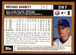 2002 Topps #207  Michael Barrett  Back Thumbnail